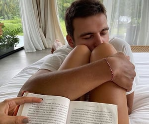 books, couples, and hug image