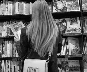 girl, bag, and magazines image