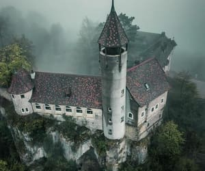 architecture, castle, and forest image