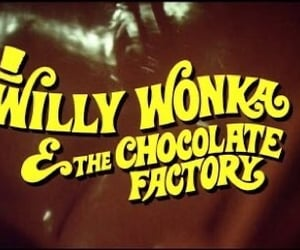 title card and willy wonka and the chocolate factory image