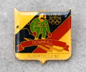 etsy, hat pin, and 1992 olympics image