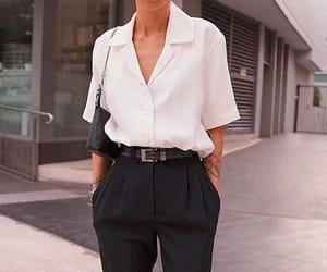 look, fashion, and whiteshirt image