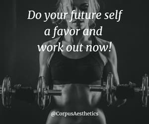 fitness, motivation, and motivational quote image