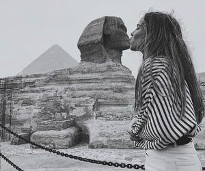 black and white, kiss, and egypt image