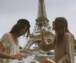 drawing, france, and paris image