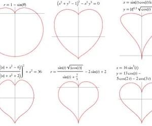 math, heart, and hearts image
