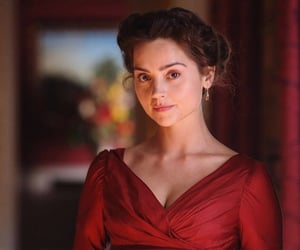 red, red dress, and jenna coleman image