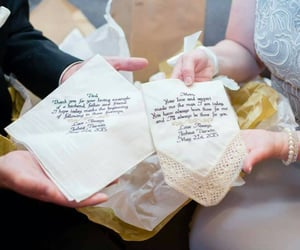 embroidered, handkerchief, and mother of the groom image