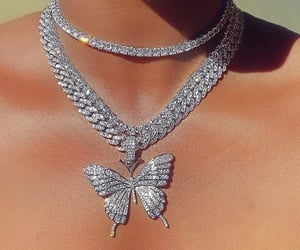 butterfly, diamond, and style image