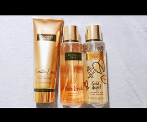 fragrance, gold, and vanilla image