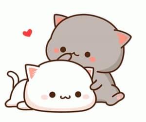 cat, hug, and kiss image
