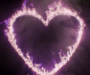 heart, fire, and theme image