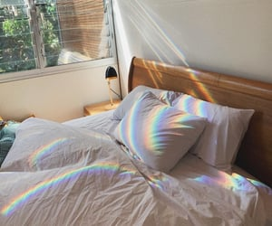 bedroom, bed, and aesthetic image