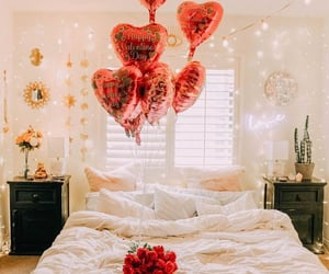 balloons, be mine, and bedroom image