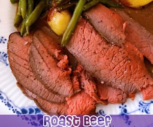 beef, food, and dinner image