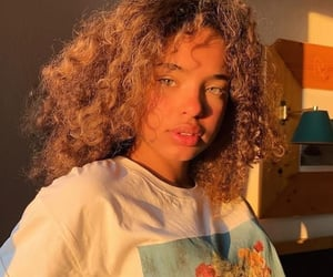 girl, golden hour, and hair image