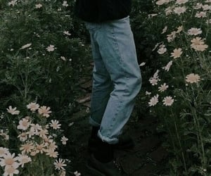 flowers, jeans, and green image