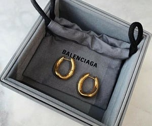 earrings, accessories, and Balenciaga image