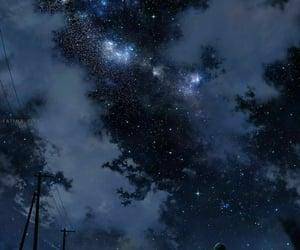 stars, art, and dark image