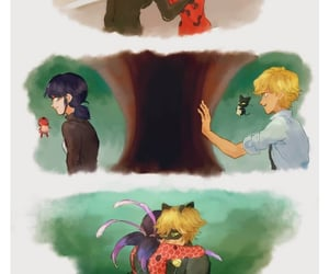 Adrien, Chat Noir, and couple image