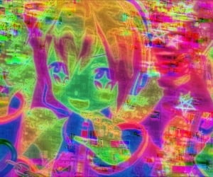 anime, glitch, and icon image