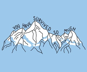 quotes, blue, and mountains image