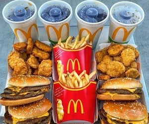 food, McDonalds, and fast food image