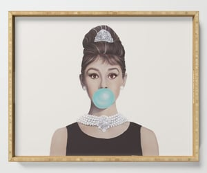 audrey hepburn, kitchen ware, and serving tray image