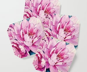 pink petals, water bottle, and kitchen ware image