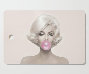 coasters, cutting board, and Marilyn Monroe image