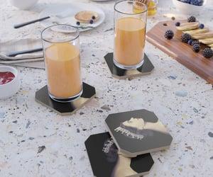 coasters, cutting board, and mugs image