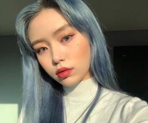 blue, hair, and ulzzang image