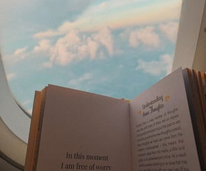 book, cloud, and plane image
