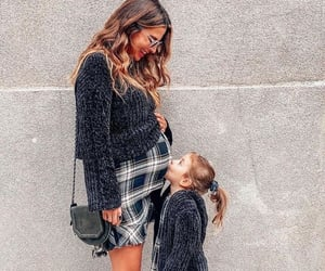 baby girl, Fashion girls, and mother and daughter image
