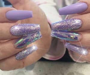 glitter, nail, and sparks image