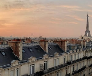 paris, sunset, and aesthetic image