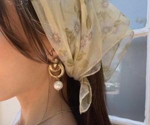 bangs, bandana, and beauty image