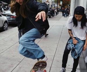 girl, skate, and woman image