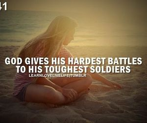 god, quote, and battle image
