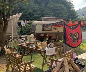 camping, korea, and chuncheon image