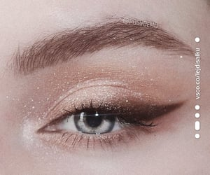 eye, eye makeup, and sparkle image
