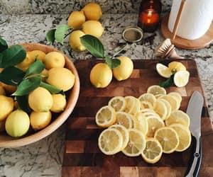 lemon, food, and fruit image