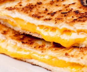 breakfast, cheese, and cheesy image