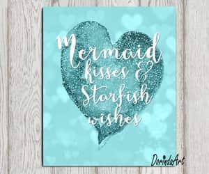 etsy, mermaid print, and starfish wishes image
