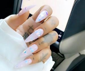 ariana grande, nails, and tattoo image