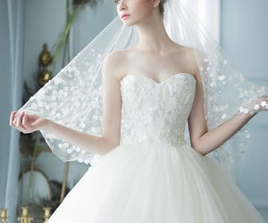 dress, fancy, and wedding image