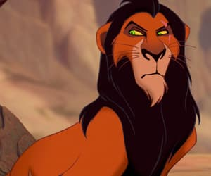 scar, disney, and the lion king image