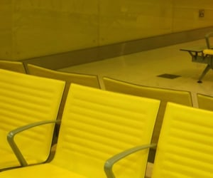 airport, chairs, and lobby image