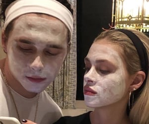 couple, goals, and face mask image