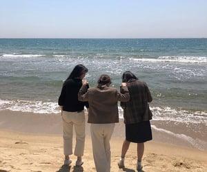 beach, girls, and korea image
